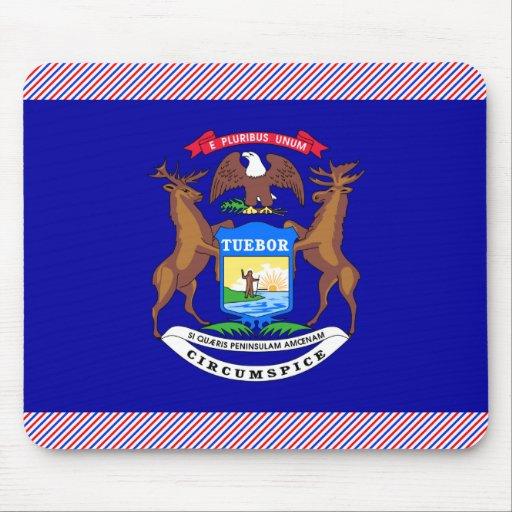 Bandera de Michigan Alfombrillas De Ratones