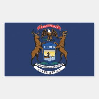 Bandera de Michigan Etiquetas