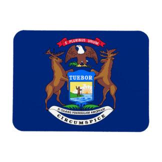 Bandera de Michigan Imanes Rectangulares