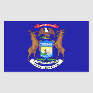 Bandera de Michigan Rectangular Pegatina