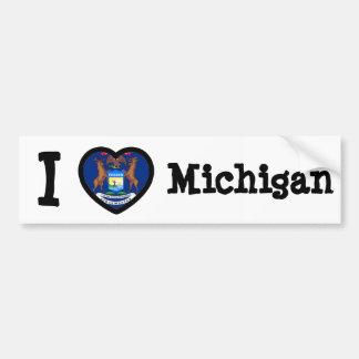 Bandera de Michigan Pegatina Para Auto