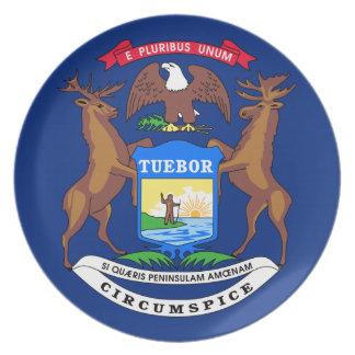 Bandera de Michigan Platos