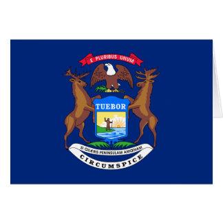 Bandera de Michigan Tarjeta Pequeña