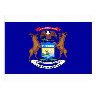 Bandera de Michigan Tarjetas Postales