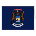 Bandera de Michigan Tarjetón