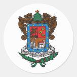Bandera de Michoacan Pegatinas Redondas