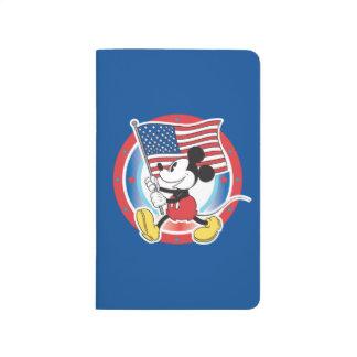 Bandera de Mickey el | del día de fiesta con el Cuadernos