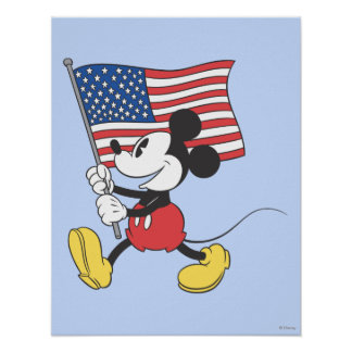 Bandera de Mickey el | del día de fiesta Póster