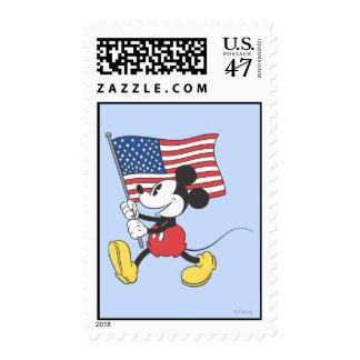 Bandera de Mickey el | del día de fiesta Sellos