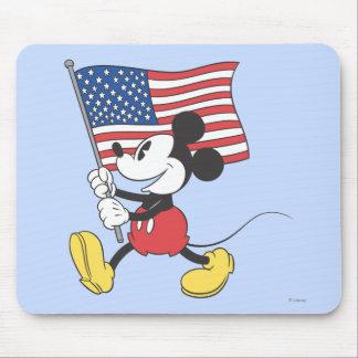 Bandera de Mickey el | del día de fiesta Tapete De Raton