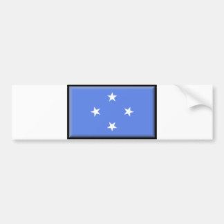 Bandera de Micronesia Pegatina De Parachoque