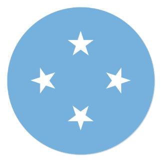"""Bandera de Micronesia Invitación 5.25"""" X 5.25"""""""