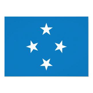 """Bandera de Micronesia Invitación 5"""" X 7"""""""