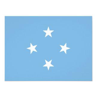 """Bandera de Micronesia Invitación 6.5"""" X 8.75"""""""