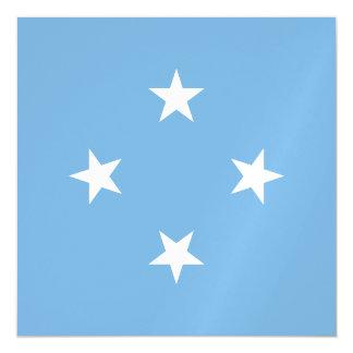Bandera de Micronesia Invitaciones Magnéticas