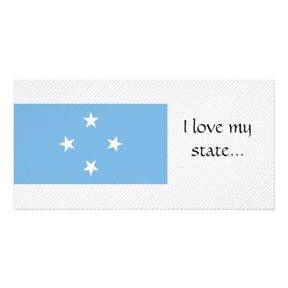 Bandera de Micronesia Plantilla Para Tarjeta De Foto
