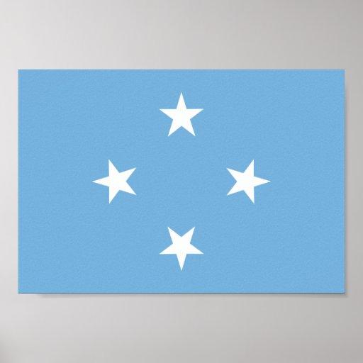Bandera de Micronesia Póster