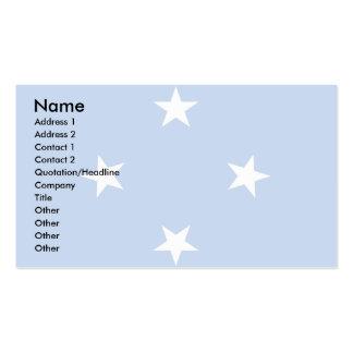 Bandera de Micronesia Tarjetas De Visita