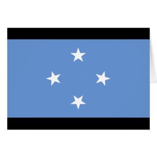 Bandera de Micronesia Tarjeta De Felicitación