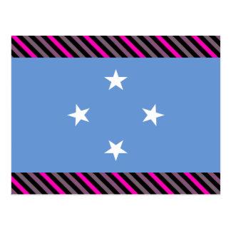 Bandera de Micronesia Tarjetas Postales