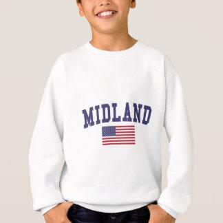Bandera de Midland MI los E.E.U.U. Sudadera