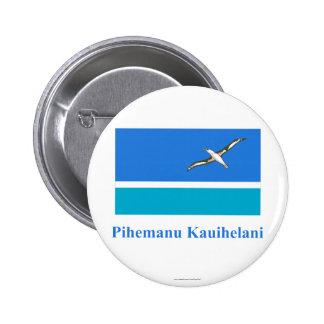 Bandera de Midway Islands con nombre en Hawaiian Pin Redondo 5 Cm