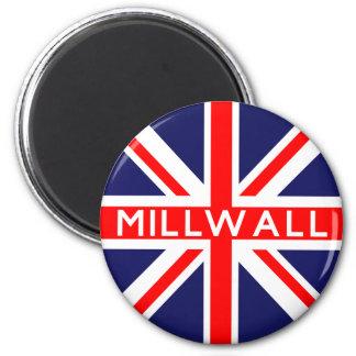 Bandera de Millwall Reino Unido Imán Redondo 5 Cm