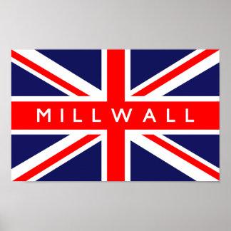 Bandera de Millwall Reino Unido Póster