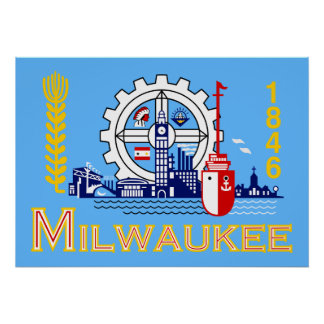 Bandera de Milwaukee Wisconsin Póster