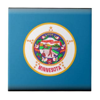 Bandera de Minnesota Teja Ceramica