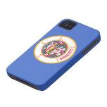 Bandera de Minnesota iPhone 4 Case-Mate Cobertura