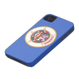 Bandera de Minnesota iPhone 4 Funda