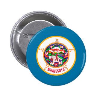 Bandera de Minnesota Pin Redondo De 2 Pulgadas