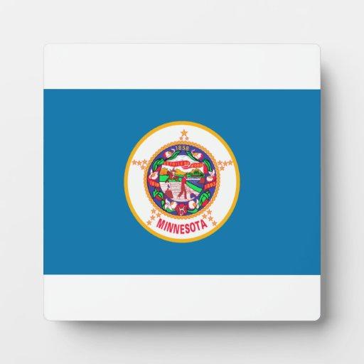 Bandera de Minnesota Placas Para Mostrar