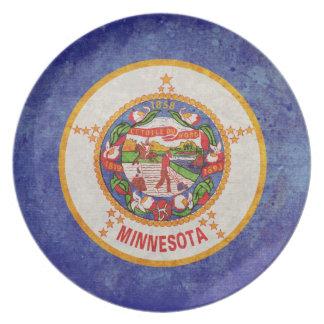Bandera de Minnesota Platos