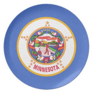 Bandera de Minnesota Platos De Comidas