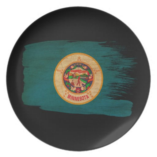 Bandera de Minnesota Plato De Comida