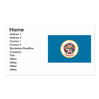 Bandera de Minnesota Tarjetas De Visita