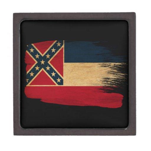 Bandera de Mississippi Cajas De Regalo De Calidad