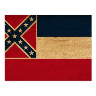 Bandera de Mississippi Tarjetas Postales
