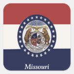 Bandera de Missouri Calcomanías Cuadradases