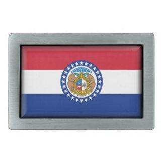 Bandera de Missouri Hebilla Cinturon Rectangular