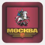 Bandera de Mockba (Moscú) Pegatinas Cuadradas Personalizadas