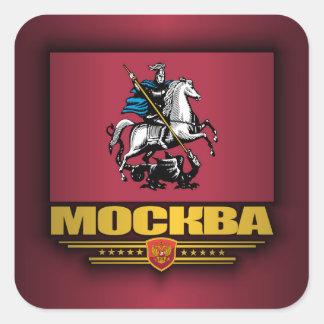 Bandera de Mockba (Moscú) Pegatina Cuadrada