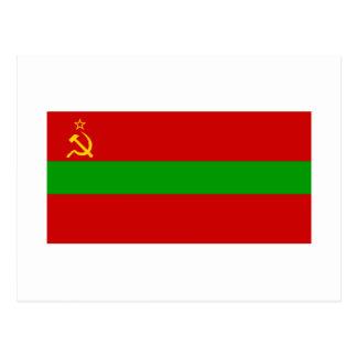 Bandera de Moldavia de SSR Tarjeta Postal
