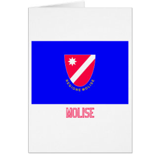 Bandera de Molise con nombre Tarjeton