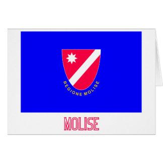 Bandera de Molise con nombre Tarjetas