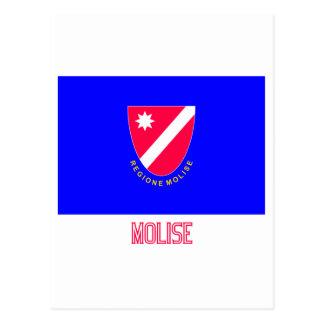 Bandera de Molise con nombre Postal