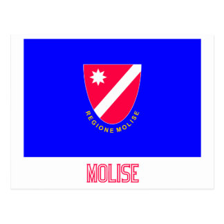 Bandera de Molise con nombre Postales