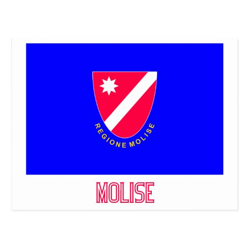 Bandera de Molise con nombre Tarjetas Postales